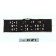 Placa Bronze PL 017