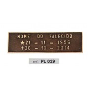 Placa Bronze PL 019