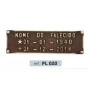 Placa Bronze PL 020