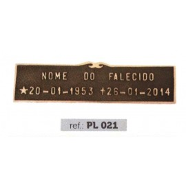 Placa Bronze PL 021