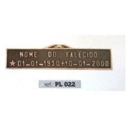 Placa Bronze PL 022