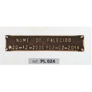 Placa Bronze PL 024